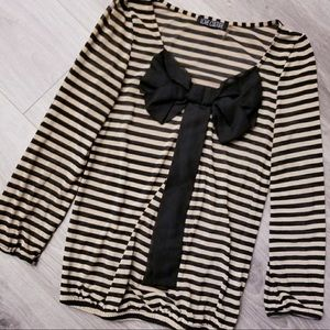 Love Culture Striped Shirt Brown Black Size Small